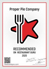Restaurant Guru Recommended Award