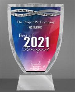 2021 Best of Davenport Award
